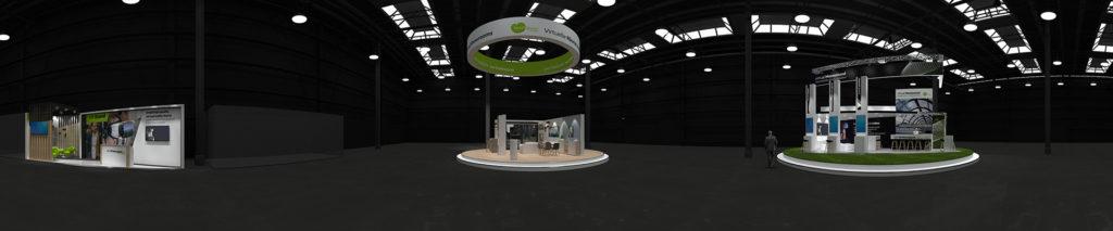 virtueller Messestand, 3D Design